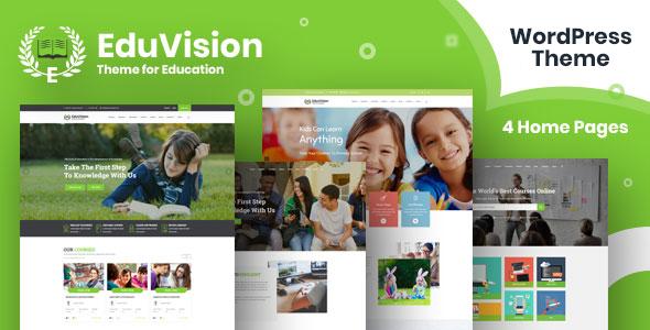 Eduvision – Education WordPress Theme Free Download