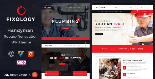 Fixology   Handyman Multi-Service WordPress Theme