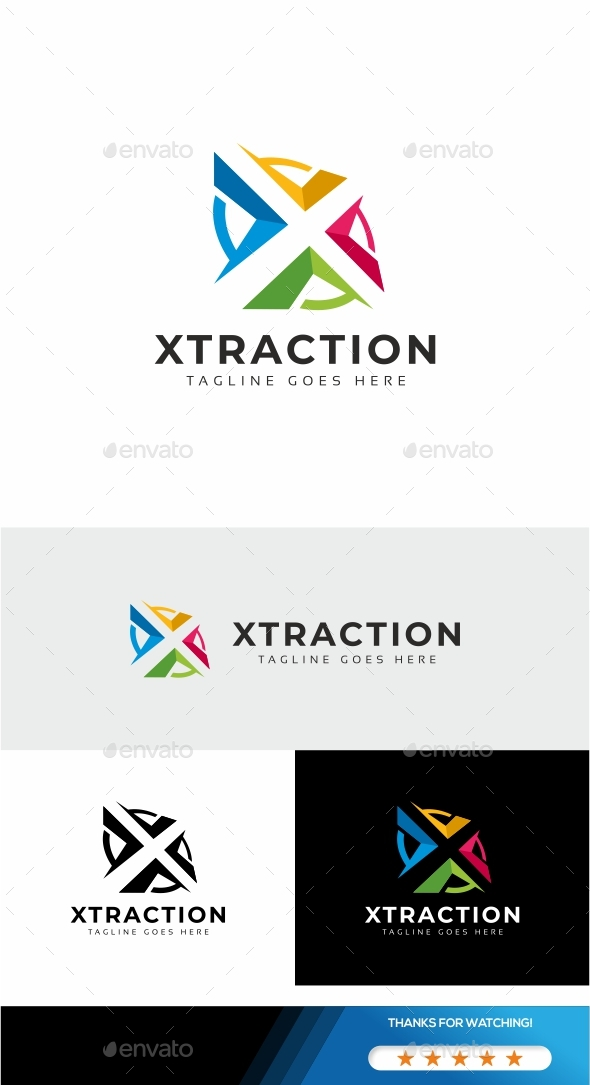 Letter X - Xtraction Logo