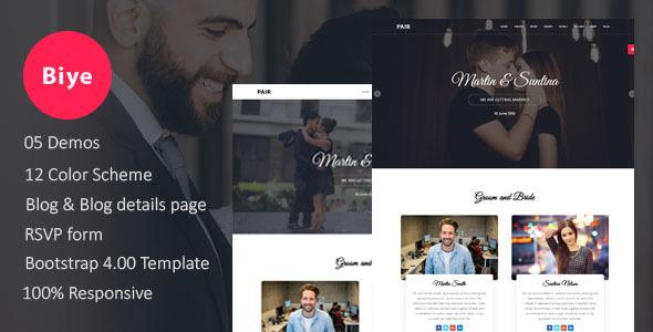 Biye - Wedding HTML5 Template