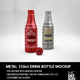 330ml Metal Drink Bottles Mockup - GraphicRiver Item for Sale