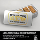 Metal Rectangular Cookie Tin  Packaging Mockup - GraphicRiver Item for Sale