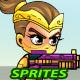 NinjaGirl 2D Game Sprites - GraphicRiver Item for Sale