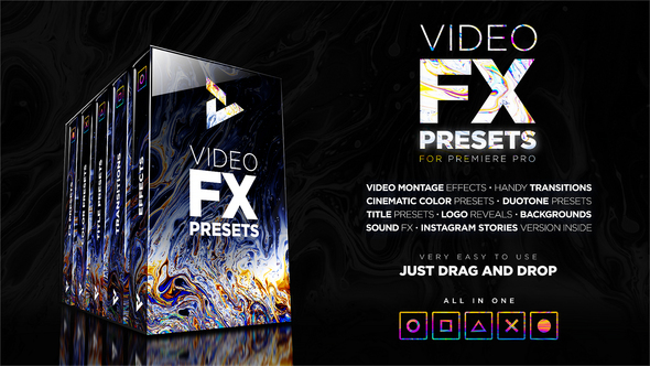 FX Presets Pack: Effects, Transitions, Titles, LUTs, Duotones, Sounds