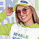 Female Hoodie and Baseball Cap Mockups Vol1 - GraphicRiver Item for Sale
