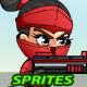 RedGirl Ninja 2D Game Sprites - GraphicRiver Item for Sale
