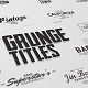 Just Type   Grunge Titles - VideoHive Item for Sale