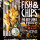 Fish and Chips Food Truck or Restaurant Flyer - GraphicRiver Item for Sale