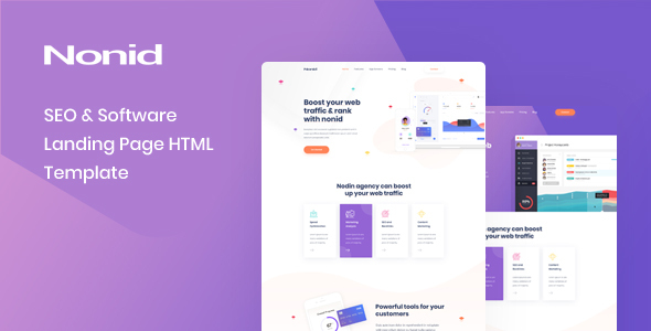Nonid - SEO & Software Landing Page HTML Template