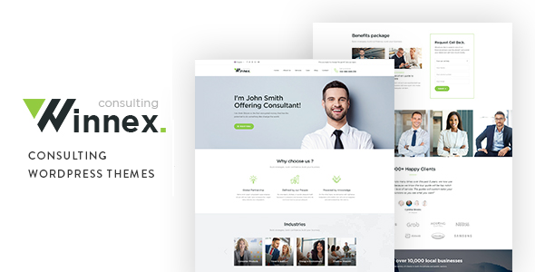 Winnex - Business Consulting WordPress Themes - Crack Theme