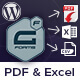 WordPress Gravity Forms PDF, Excel & CSV - CodeCanyon Item for Sale