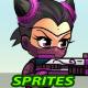SuperCat Girl 2D Game Sprites - GraphicRiver Item for Sale