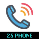 25 Phone & Calling Color Icon - GraphicRiver Item for Sale