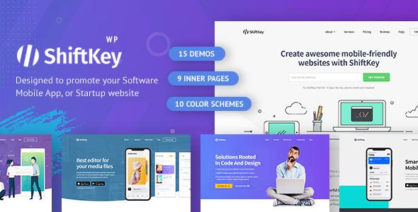 ShiftKey - Landing Pages WordPress Theme