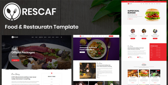 Rescaf - Food & Restaurant Template - Crack Theme - Download Free