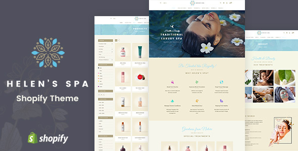 Helen's Spa - Sectioned Shopify Theme