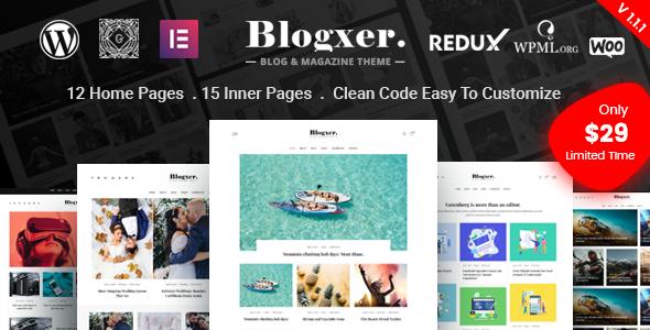Blogxer - Blog & Magazine WordPress Theme