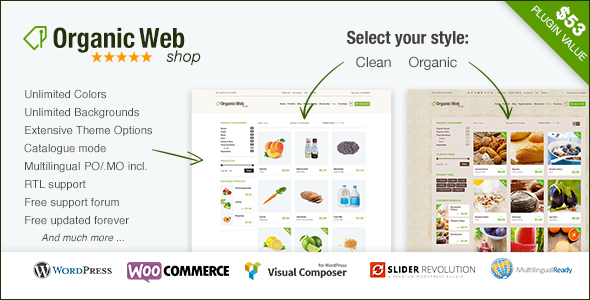 Organic Web Shop - The WooCommerce Eco Theme