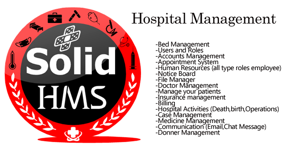 SOLID HMS (Hospital Management System) Open Source dot net core mvc | C#