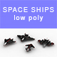Low-poly Space ships (set 4) - 3DOcean Item for Sale