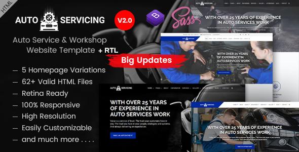 AutoServicing - Automobile Garage/Workshop HTML Template