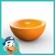 Orange (Half) - 3DOcean Item for Sale