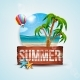 Vector Summer Holiday Illustration - GraphicRiver Item for Sale