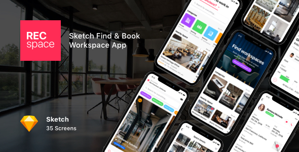 RECspace - Sketch Find & Book Workspace App