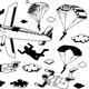 Set of Parachuting Elements - GraphicRiver Item for Sale