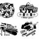 Set of Snowboard Emblems - GraphicRiver Item for Sale