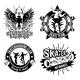 Set of Skateboarding Emblems - GraphicRiver Item for Sale