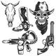 Set of Cowboy Elements - GraphicRiver Item for Sale