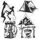 Set of Camping Elements - GraphicRiver Item for Sale
