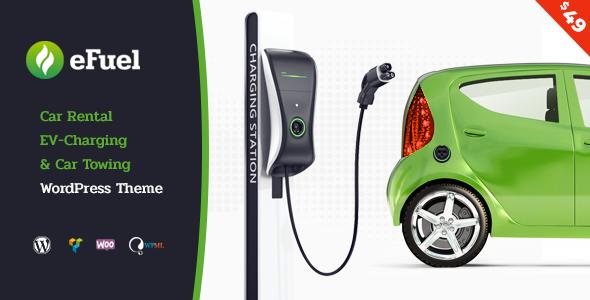 Efuel - Electric Car Rental & EV Charging WordPress Theme