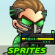 Green Cyborg 2D Game Sprites - GraphicRiver Item for Sale