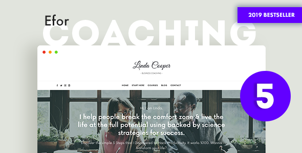 Efor - Coaching & Online Courses WordPress Theme
