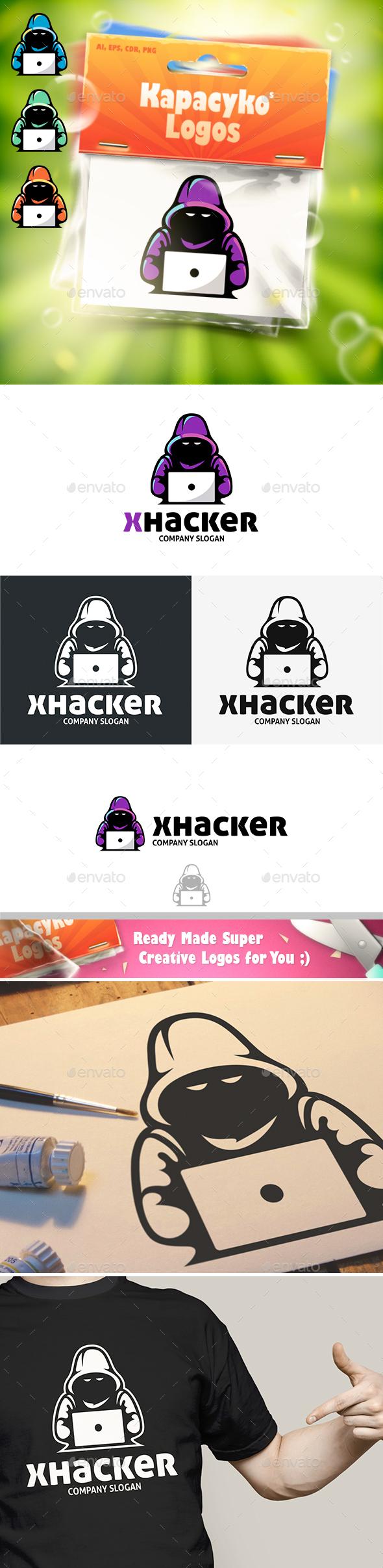 X Hacker Logo