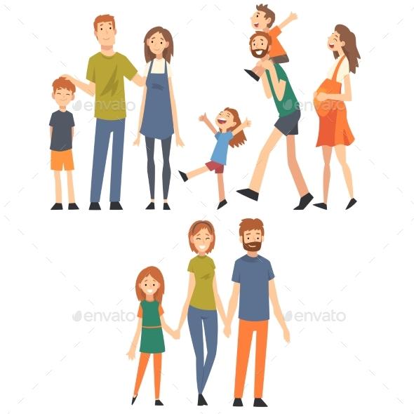 Happy Family with Children Set