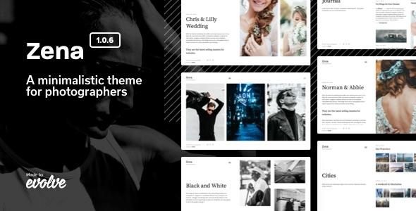Zena, a minimalistic theme for photographers