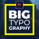 Big Typography Titles I MOGRT - VideoHive Item for Sale