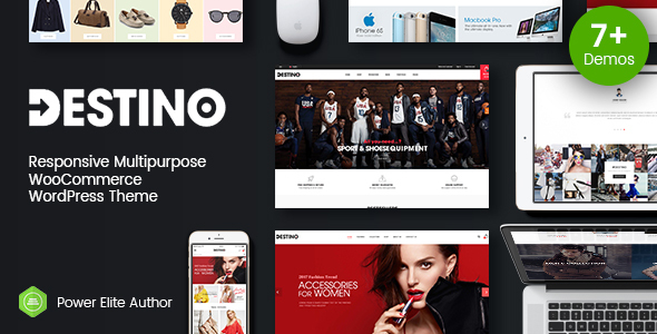 Destino - Digital Store & Fashion Shop WordPress WooCommerce Theme (7+ Indexes & Mobile Layouts)