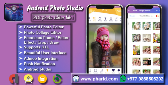 Android Photo Studio - Photo Collage, Editor, Stickers, Frame, Effect, Crop Download