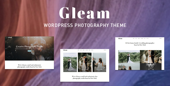 Gleam – Portfolio Photography WordPress Theme Free Download