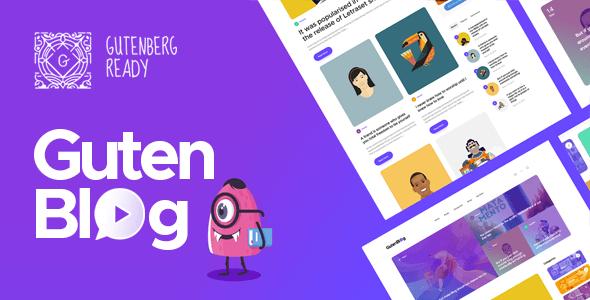 Gutenblog - Modern Blog WordPress Theme
