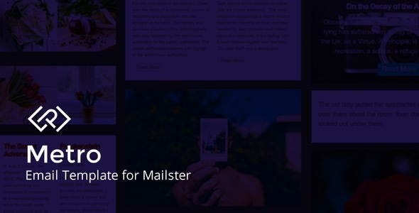 Metro - Email Template for Mailster