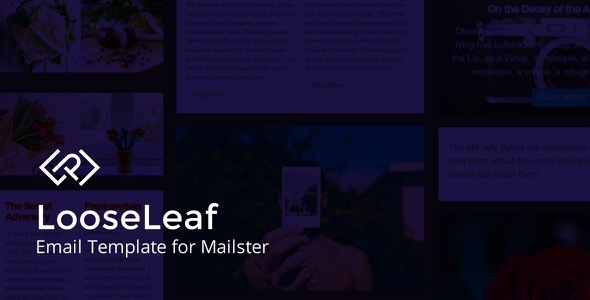LooseLeaf - Email Template for Mailster