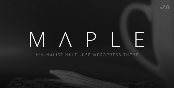 Maple | Clean Minimal Multi-Purpose WordPress Theme