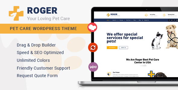 Roger - Pet Care WordPress Theme