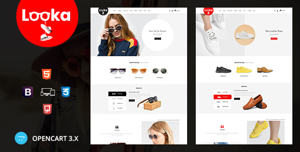 Looka - Glasses & Shoes Opencart Theme