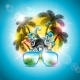 Summer Holiday Design with Speaker and Sunglasses - GraphicRiver Item for Sale